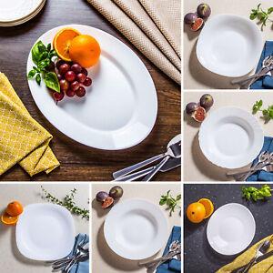 Bormioli Rocco Opal Glass Dinner Plate Oval Food Serving Platter Tray Salad Bowl