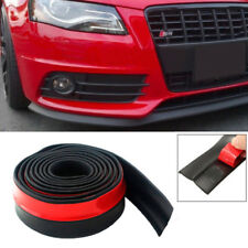 Car Bumper Lip Splitter Body Spoiler Skirt Trim Chin Rubber Protector 100""