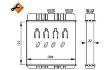 NRF Radiador de calefacción Para OPEL ASTRA ZAFIRA 54279
