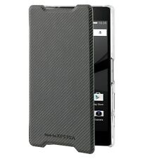 GENUINE ROXFIT SONY XPERIA Z5 COMPACT ULTRA SLIM BOOK CASE FLIP COVER - BLACK