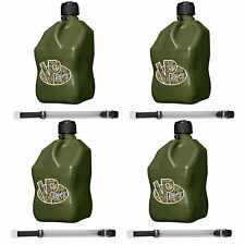 Vp Racing Fuels 5 Gallon Square Utility Container Camo With 14 In Hoses 4 Pack
