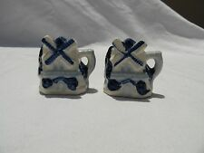 Vintage Blue Delft Style Salt and Pepper Made In Occupied Japan