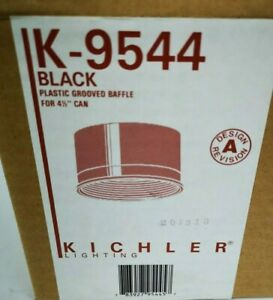 """KICHLER BLACK BAFFLE for 4.5"""" RECESSED CAN Plastic Grooved Baffle K9544 NEW"""