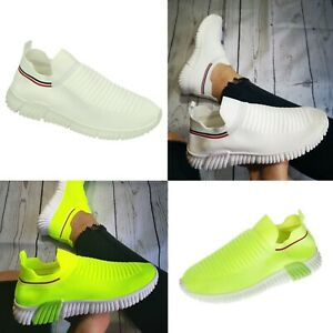 Womens Breathable Trainers Running Sneakers Ladies Sports Mesh Sock Shoes New Uk