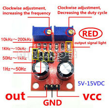 2PCS NE555 Pulse Frequency Duty Cycle Square Wave Adjustable  Signal Generator