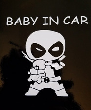 """Baby In Car"" Baby Dead Pool on Board Safety Sign Car Decal / Sticker"