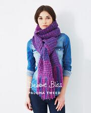 Debbie Bliss DB040 - Two Colour Scarf - Paloma Tweed - Single Pattern