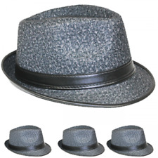 WOMEN MEN Fedora Hat Wedding Dress Formal BLACK CAP FASHION SUMMER US SELLER