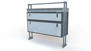 VAN SHELVING KIT WITH TWO LOCKABLE BOXES & SHELF (VAS TK15/10.13) L:1074mm