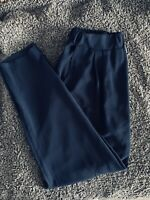 Ladies KRISP Navy Blue Trousers Thin Loose Fit Tapered Pockets UK Size S/M