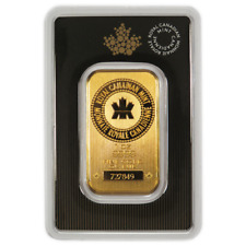 1 oz RCM Royal Canadian Mint Gold Bar .9999 Fine Sealed In Assay