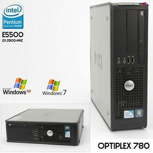 Computer PC Dell OptiPlex 780 SFF Pentium E5500 Windows XP 7 Parallel RS-232 Rw