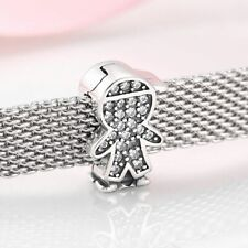 Reflection Clip Charm Bead 925 Sterling Silver Baseball Cap Child Jewelry