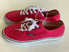 NEW! FILA WOMEN'S RED PINK CORAL CANVAS BOAT SHOES SNEAKERS US 7 / EUR 38 SALE
