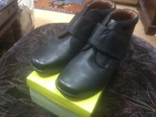 👢HOTTER Daydream UK 9 Std / EU 43 Black Leather, Velcro Fastening Ankle Boots