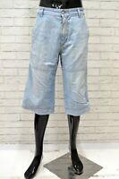 Bermuda Uomo GAS Taglia Size 34 Jeans Pantaloncino Pantalone Shorts Pants Man