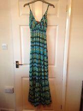Amari Turquoise Floral Maxi Dress, Size M