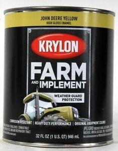 1 Can Krylon 32 Oz Farm & Implement 2025 John Deere Yellow High Gloss Enamel