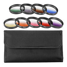 Neewer 9pcs 52mm Complete Graduated Color Lens Filter Set for SLR Camera Lens