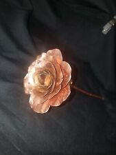 Hand made metal Copper  Rose, gift,life size,ooak,love,Forged, artisan,crafted