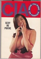 French magazine adulte poche N&B/Couleur CIAO n°10 février 1969