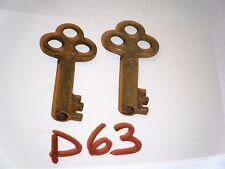 SKELETON BARREL KEYS STEAMPUNK ANTIQUE TRUNK BOX CHEST DOOR KEYS D63
