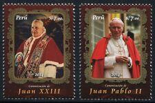 Perù 2014 Papa Giovanni Paolo II. Giovanni XXIII canonizzazione Popes MNH