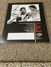 Boxing Champs Signed Autograph Poster Thomas Hearns Vs. Roberto Duran Beckett