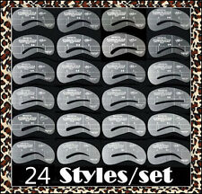 24 Style Eyebrow Stencil Eye Brow Kit Liner Shaper Make Up Template Shaping