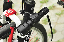 360° Swivel MTB Bicycle Bike LED Front Headlight Head Lamp Mount Holder Clip