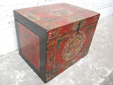 Chest delightfully painted chest Tibet Asia access right An enormous piece only