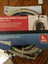 Burst Protect Washing Machine Connector 6Ft. Length #7243-72-34-1-2Pk-Bp