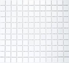 Mosaico ceramica bianco opaco tegola per muro e suolo:18-0111_b |1 foglio