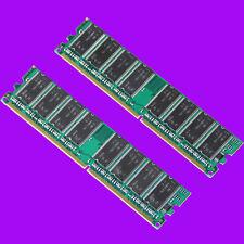 Low DENSITY 2X 1GB 2GB PC3200 400MHz Non-ECC SDRAM DDR400 PC2700 333 RAM dimm