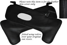 BLACK STITCHING FITS FIAT X1/9 X19  2X SUN VISORS LEATHER COVERS ONLY