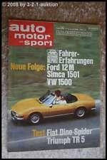 AMS Auto Motor Sport 16/68 Fiat Dino Spider TR 5 PI Ford 15 M VW 1500