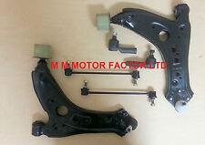 VW POLO 9N (03 -) Anteriore Braccio Oscillante Inferiore Braccia + BOCCOLE + Collegamenti + Track Rod Ends