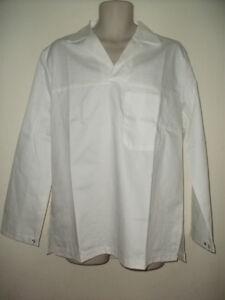 Mens white Cooks, baker catering top shirt uniform Whites, kitchen Medium XL XXL