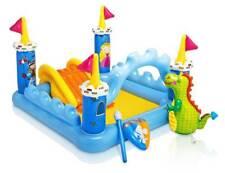 Planschbecken Fantasy Castle Kinderpool 185x152x107cm inkl. Rutsche + Spielzeug