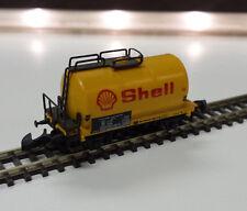 1x Märklin Z 8611 Shell Tankwagen gelb Güterwagen Mini Club