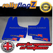 Rallyflapz HONDA Civic TYpe R FN2 (05-11) Guardafangos Azul Logo Big 4mm PVC
