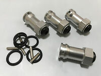 12mm Hex 17mm Wheel Extension Widener Kit Traxxas Rustler Stampede 2WD Silver
