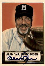 1952 Topps Style Alan Rosen Mr. Mint Autographed Baseball Card 2000 DECEASED