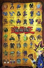 YU GI OH Collage Anime Manga 1996 Poster Large 34-1/2 x 22-1/4