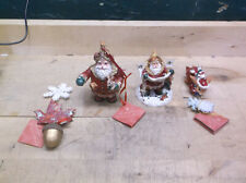 Lot of 4 Christopher Radko Woodland Winds Christmas Ornaments