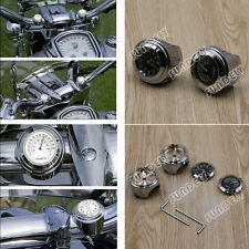 """Montaje manillar moto 7/8"""" Reloj Cuadrante Reloj Termómetro Medidor Universal"""