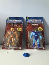 He Man Masters Of The Universe Retro Play He-Man Skeletor Figures vintage shield
