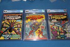 Amazing Spider-Man 135 136 137 CGC 8.5 8.0 8.5 original owner never pressed