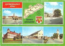 B45114 Jihomoravsky Kraj Okres Kromeriz map carte multiviews  czech