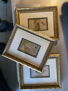 Set Of 3 Kate Greenaway Framed Chromolithographs 1895